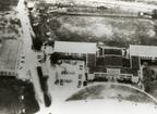 Aerial view of Robert E. Lee High School, late 1930s