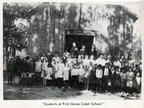 Students at First Goose Creek School