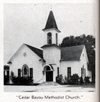 Cedar Bayou Methodist Church circa 1952