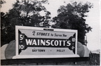 Billboard for Wainscott's Variety Store