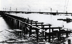 The Tabbs Bay – Hog Island Causeway, under construction