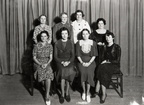Hostesses for Humble Oil's first Open House in 1936