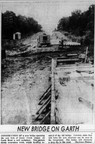 Construction of a new bridge on Garth Road over Goose Creek, 1959