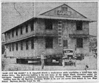 Building for the Quack Shack on the move, 1949