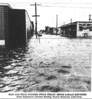 Flooding at the intersection of Main and Texas, 1968.
