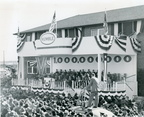 Speaker's platform and crowd at Billion Gallon Day, December 17, 1944