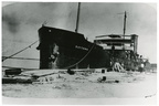 Oil tanker S. S. Baytown at dock, 1922