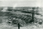 Construction of the mechanical shops at Humble Oil & Refining Company's Baytown Refinery, 1919