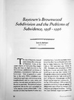 Baytown's Brownwood Subdivision and the Problems of Subsidence, 1958-1996